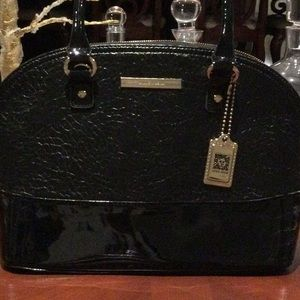 Anne Klein leather and patent purse